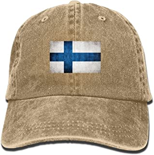 DNUPUP Adults Finland Flag Adjustable Casual Cool Baseball Cap Retro Cowboy Hat Cotton Dyed Caps