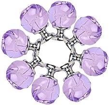 BANNBA Trekt zwarte lade handvat deurgrepen 8 stks 30mm creatieve Rose Crystal kast dressoir lade Pull handvat decoratieve...