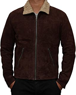 ae10db31eb4 Rick Suede Grimes Jacket - The Walking Brown Dead Real Geniune Leather Coat