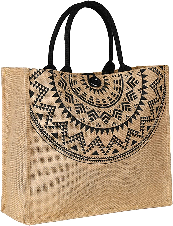 JOLLQUE Straw Beach Bag for Women Tassel 5 ☆ very popular Handwov 1 year warranty Large Tote with