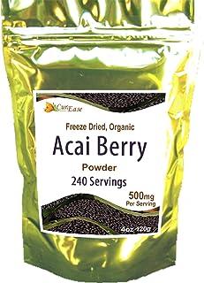 CurEase Acai Berry Powder Organic Non GMO 4.2 oz ~ 240 Servings