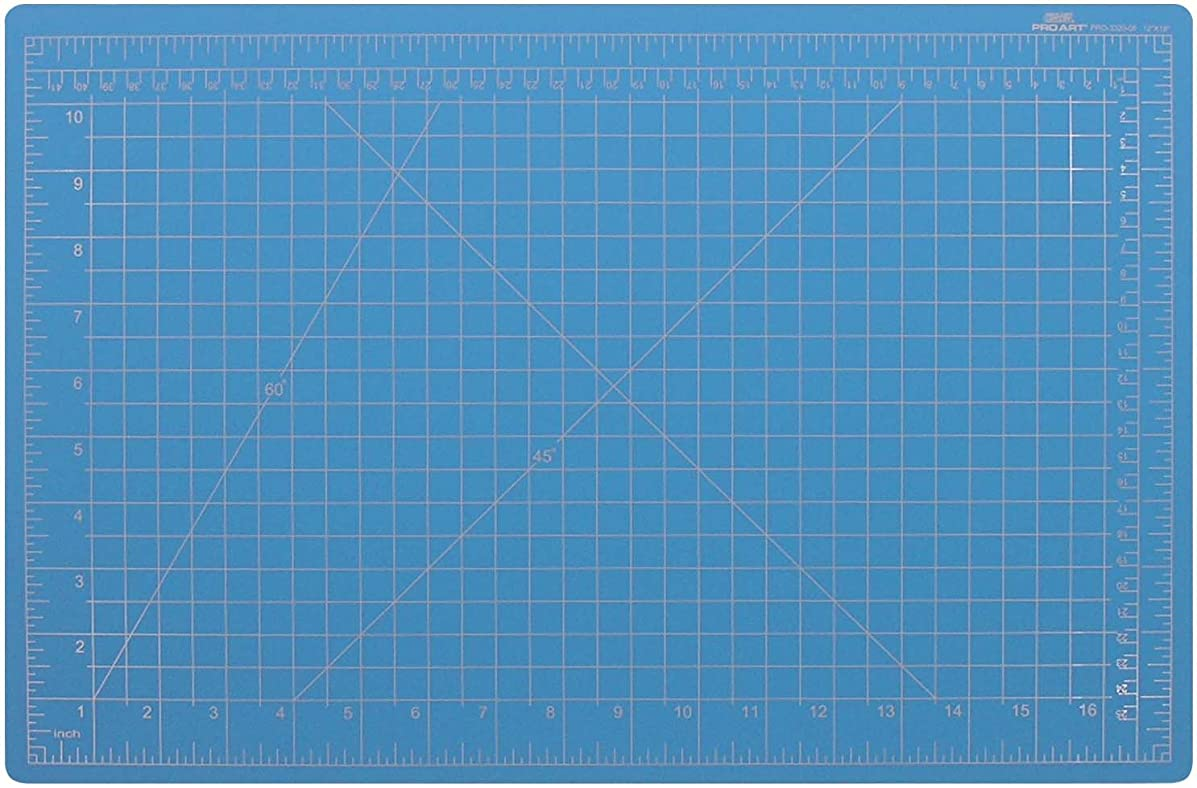 PRO ART 18-Inch by 24-Inch Graphic Cutting Mat, Blue