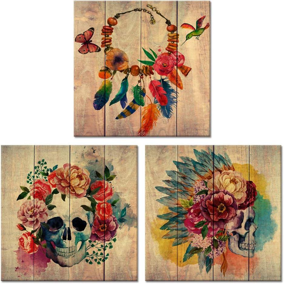 Visual Art Decor Abstract Floral Sku Sugar Tucson Mall Canvas Directly managed store Wall Skull