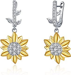 TOKENZ Dangle Floral Design Silver Plated Earrings For Women And Girls