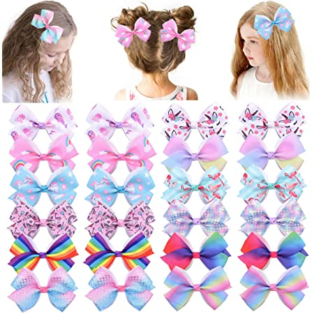 Jolie boîte cadeau de Handmade Hair Bow Clips /& Bobbles Licorne