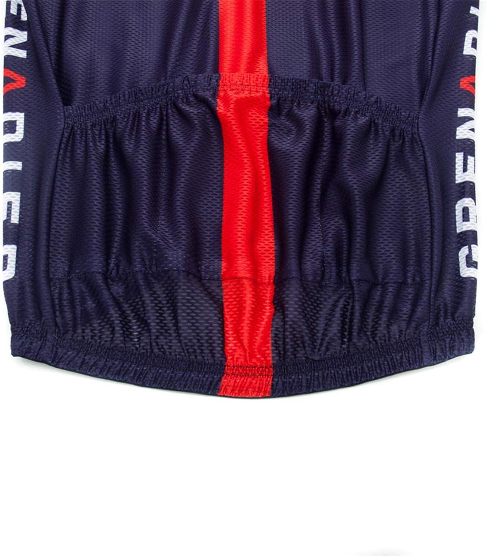 Rennrad Herren Fahrrad Trikot Kurzarm Radsport Trikot Set Atmungsaktiv Schnell Trocken Radfahren Kleidung mit Bib Shorts Mit 3D Sitzpolster MTB