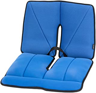 Dr. Air Seat Cushion with Lumbar Support- Non-Slip Orthopedic Support Cushion - Comfort, Back, Sciatica, Coccyx and Tailbone Pain (Blue)