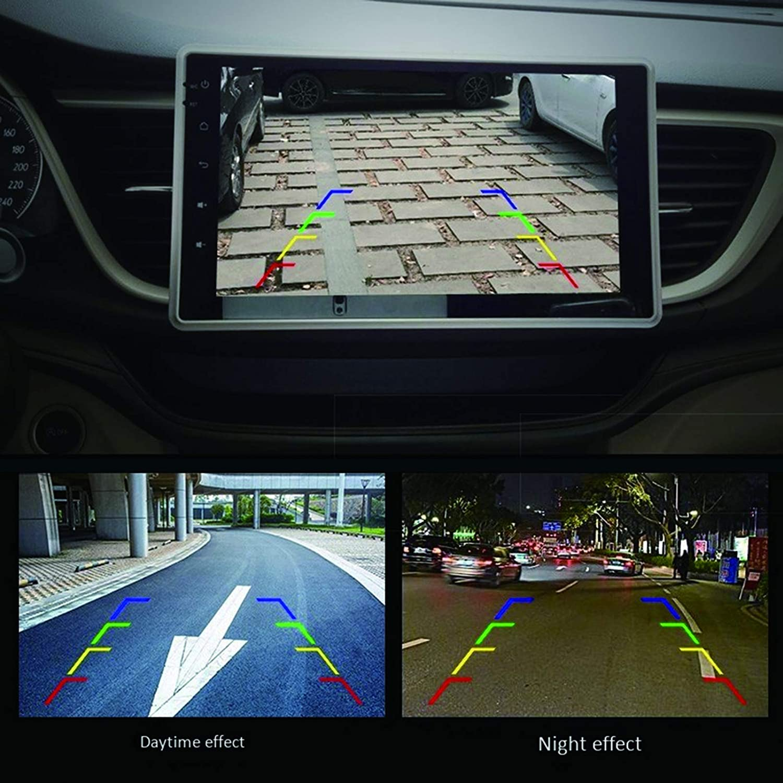 C/ámara Trasera HD para autom/óvil C/ámara de Respaldo para autom/óvil con s/úper visi/ón Nocturna IP67 C/ámara de Vista Trasera s/ísmica a Prueba de Agua Vista Gran Angular para autom/óvil 8 Lights