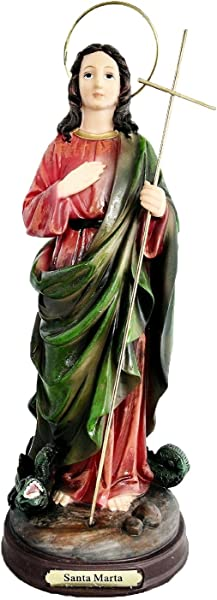 8 Inch Santa Marta Saint Martha With Dragon Statue Figurine Figure Santo St