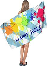 AIKYAN Girls Holi hai The Festival of Color Highly Absorbent Cool Beach Towels 27.5 x 55 Inch