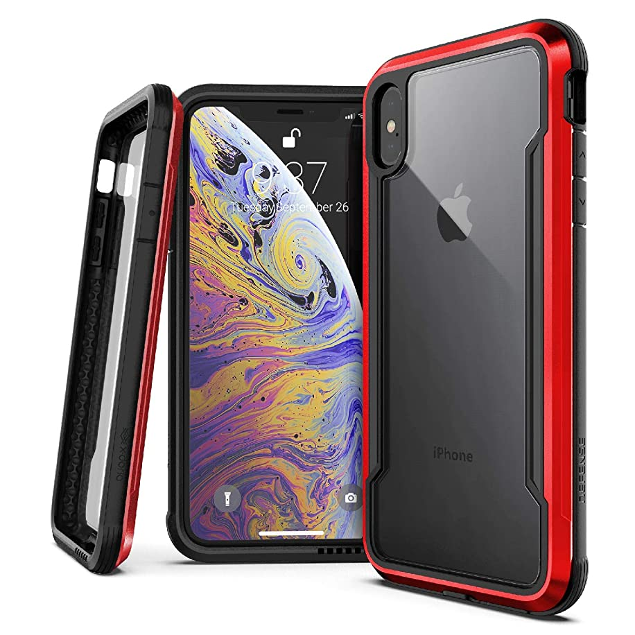 X-Doria Defense Shield Series, iPhone Xs Max - Military Grade Drop Tested, Anodized Aluminum, TPU, and Polycarbonate Protective Case for Apple iPhone Xs Max, 6.5