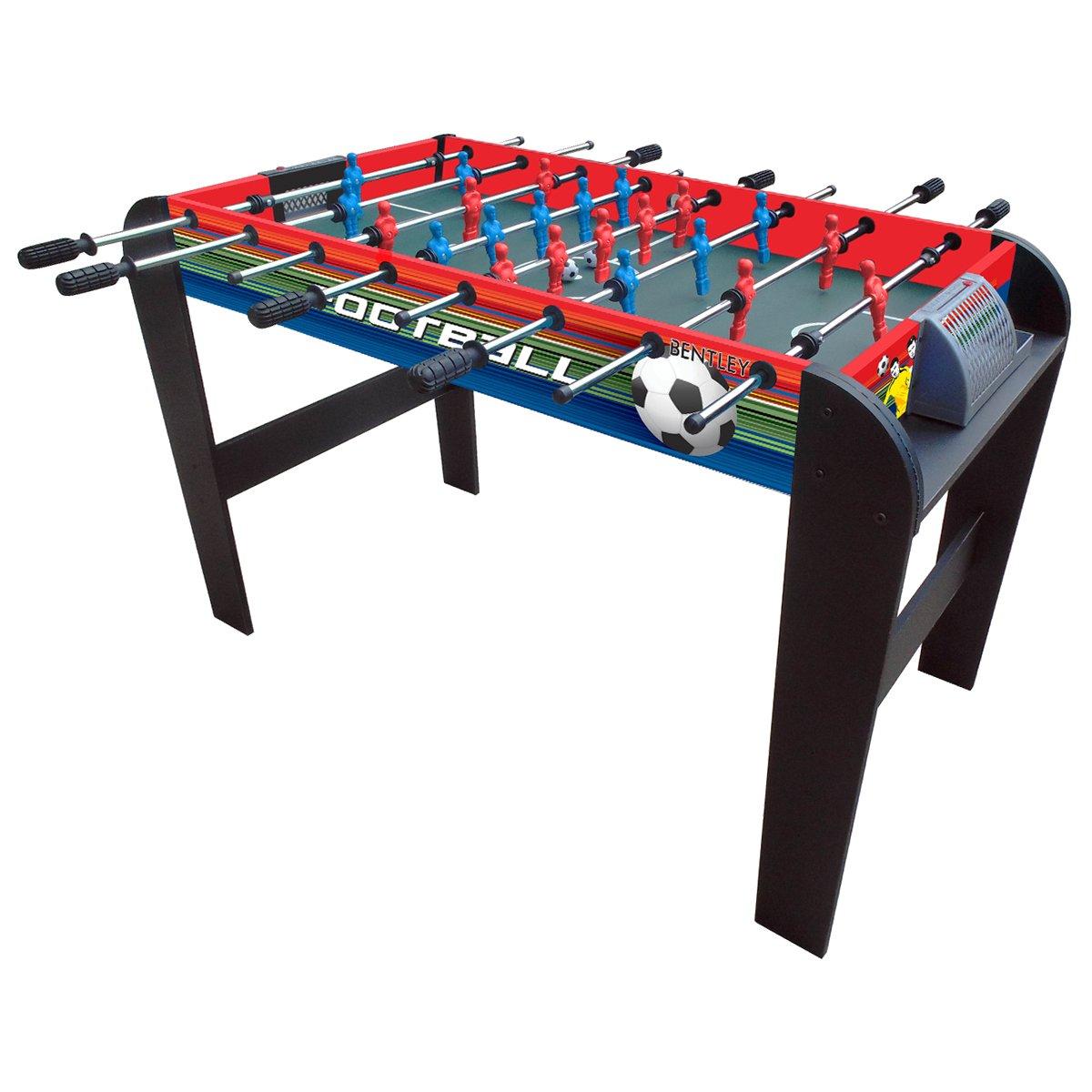 Charles Bentley Futbolín con 22 Jugadores - Incluye 2 Bolas y Marcador - 122 x 62 x 79 cm: Amazon.es: Deportes y aire libre
