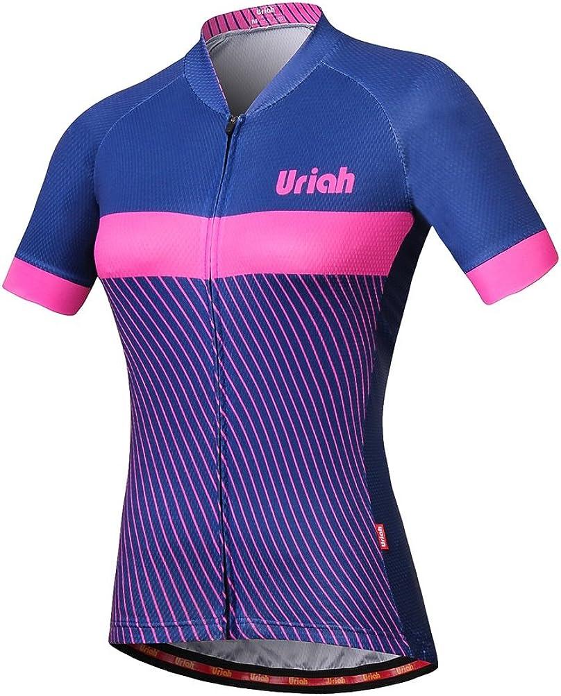 Uriah Women's Bike Jersey Direct sale of manufacturer Short with Reflective Zipp Rear Sleeve Popular brand
