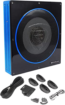 "$114 Get Rockville RW10CA 10"" 800 Watt Slim Low Profile Active Powered Car Subwoofer Sub"