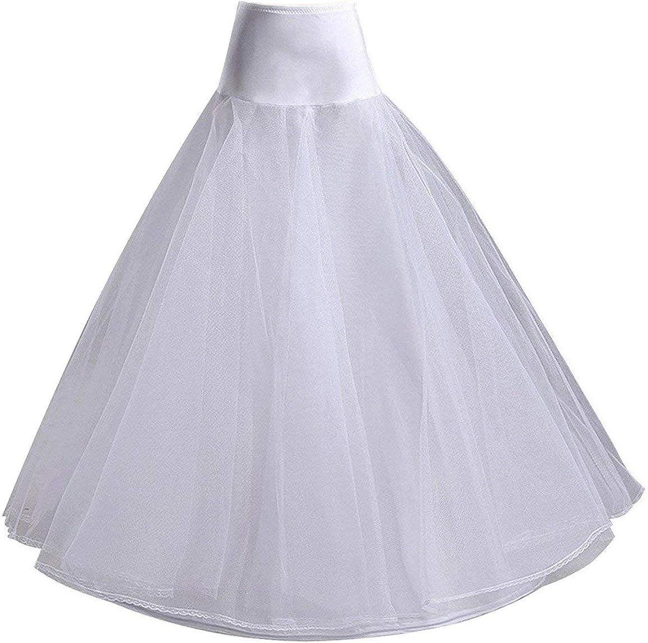 Women's Full Lenth A-line Underskirt Fort Superlatite Worth Mall Petticoat Wedding Crinoline