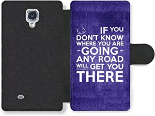 Cheshire Cat Alice in Wonderland Life Inspirational Quote Faux Leather case for Samsung Galaxy S4