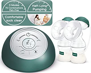 Sponsored Ad - Electric Breast Pump with 3 Modes and 75 Combinations Suction, F/C Technology, Pain-Free, Timer Function, D...
