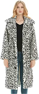 Dawwoti Women's Faux Fur Long Parka Outwear Fleece Long Sleeve Casual Chunky Cardigan Tops for Winter New Year