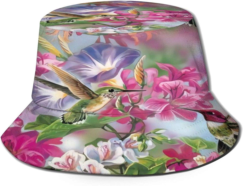 Hummingbird Flowers Bucket Hat Unisex Mesa Mall Summer Packable Sun Fi Washington Mall