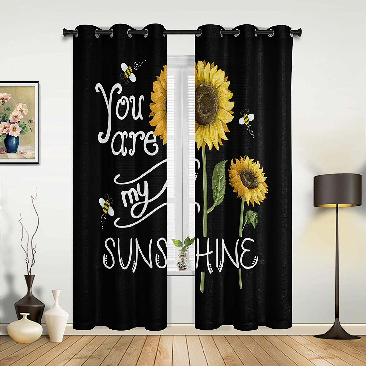 Window Sheer Curtains for Bedroom You Popularity Max 84% OFF are Sunflower Room Living
