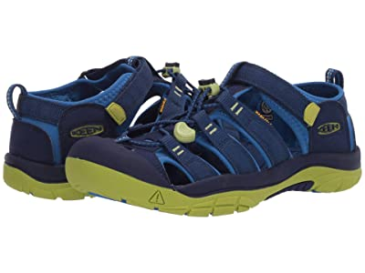 KEEN Kids Newport H2 (Little Kid/Big Kid) (Blue Depths/Chartreuse) Boys Shoes