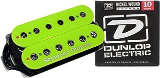 Seymour Duncan SH-4 JB Humbucker Guitar Pickup Green Custom w/ Strings