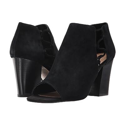 Tahari Post (Black Suede) High Heels