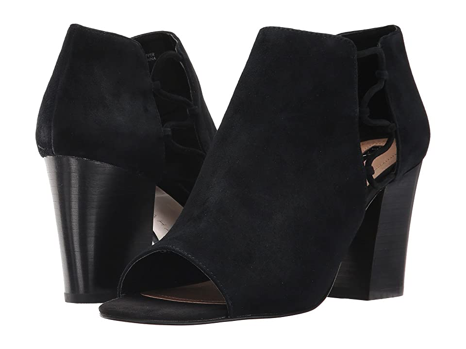 Tahari Post (Black Suede) High Heels
