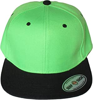 black and lime green snapback