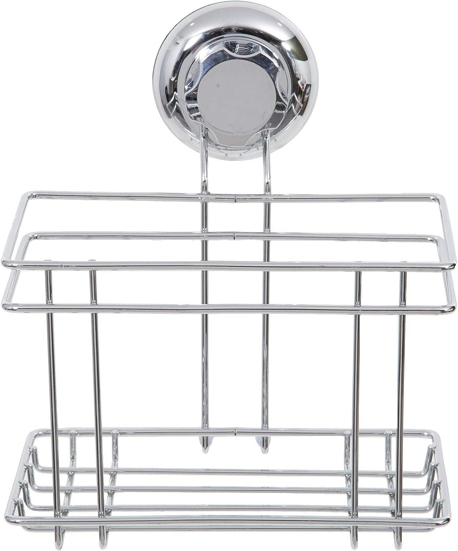 Compactor Estante rinconera sencillo, Gama Bestlock Chrome, Fijación mediante ventosa, Soporta hasta 12 kg, Tamaño, 23.8 x 23.8 x 12.8 cm, RAN4685