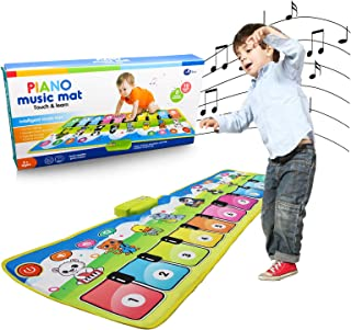 MODOO Music Piano Mat for Kids, Collapsible Musical Keyboard