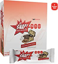 Ohh Snap Nutrition Gluten Free Crispy Protein Bar, Natural and Artificial Chocolate Peanut Butter Flavors – 7 Count Box