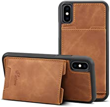 Case for iPhone Xs Max 6.5inches Apple Lightweight Cover,TACOO Soft Pu Leather Thin Simple Protective Card Slots Durable Kickstand Sturdy Women Boy Shell Yellow