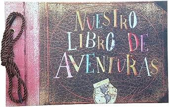 LINKEDWIN Nuestro Libro De Aventuras, Our Adventure Book, Up Themed Photo Album in Spanish Version, DIY Scrapbook, Wedding Guest Book, 11.6 x 7.5 inch, 80 Pages