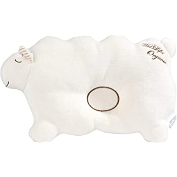 Baby Pillow for Newborn Organic Cotton to Prevent Flat Head Gift Lamb