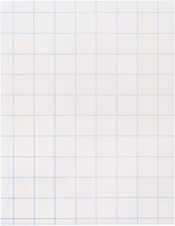 School Smart Double Sided Graph Paper with in Ruler - 8 1/2 in x 11in - Ream of 500 - White