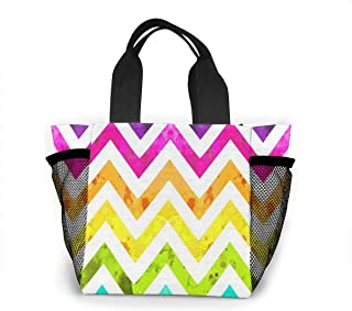 Reusable Grocery Bags Rainbow Ombre Small Tote Bag Lunch Bag for Women