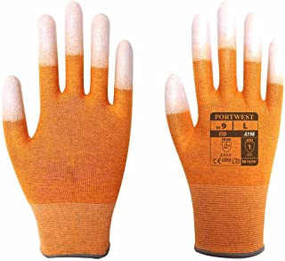 Portwest A198 Antistatic PU of the finger glove, A198ORRM