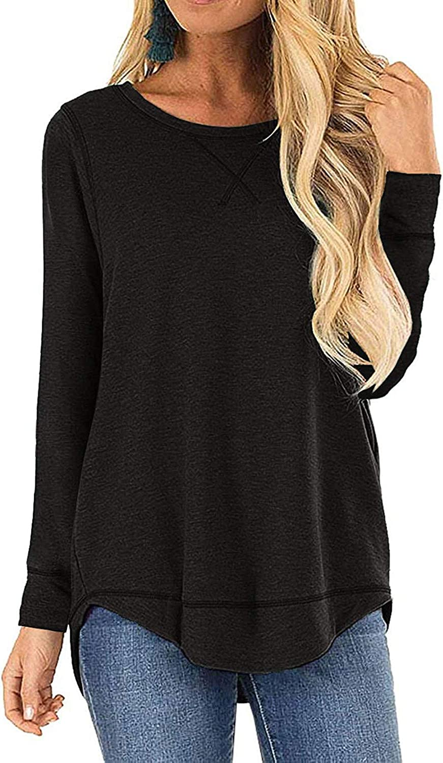 I2crazy Women's Casual Limited price sale Long Sleeve Tops Max 54% OFF Fall Tunic Tshirt Blouse