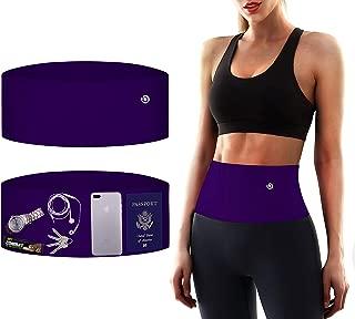 BUBBLELIME Running Belt for Men & Women Money Belt with Security Pockets Fits Phones Passport Key Elastic