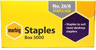 MARBIG(R) 90300 Staples No. 26/6 5000Bx No. 26/6 Box 5000