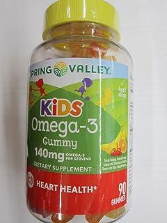 Spring Valley Kids Omega-3 140 mg Heart Health, Fruit, 90 Gummies (Pack of 2)