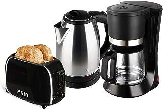 Bouilloire en inox 1500W 1.8L + Grille pain 2 fentes 700W + Cafetière 680W - 1.2L