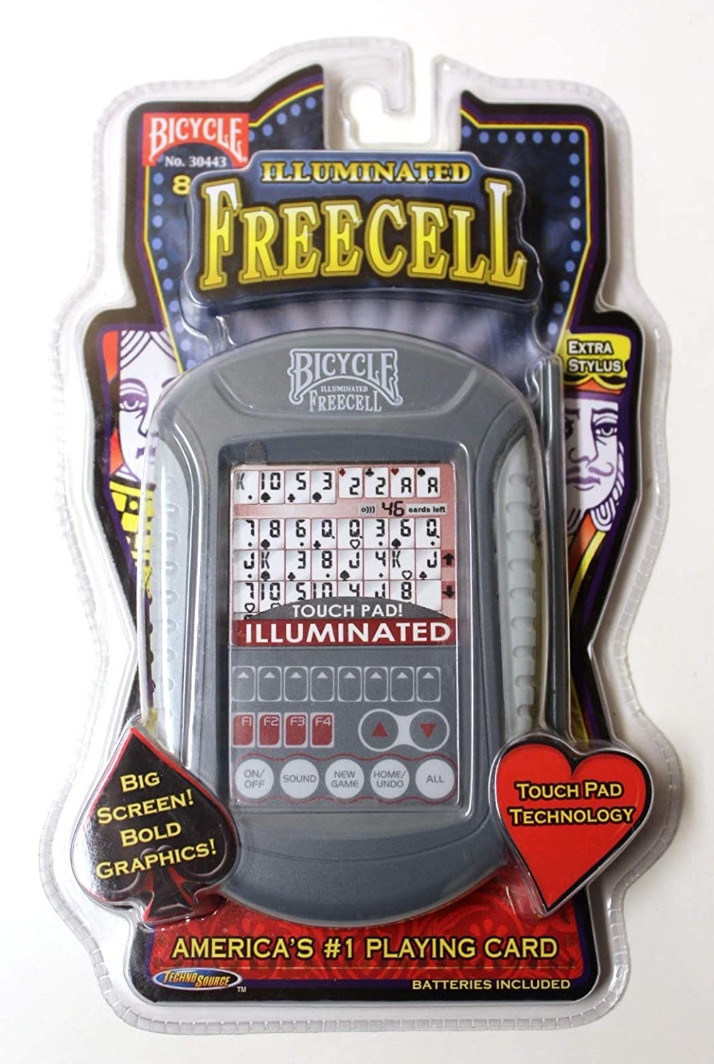 US Playing Card Company Bicycle Illuminated Touch Pad FreeCell
