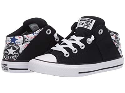 Converse Kids Chuck Taylor(r) All Star(r) Axel All Over Patch (Little Kid/Big Kid) (Black/University Red/White) Boy