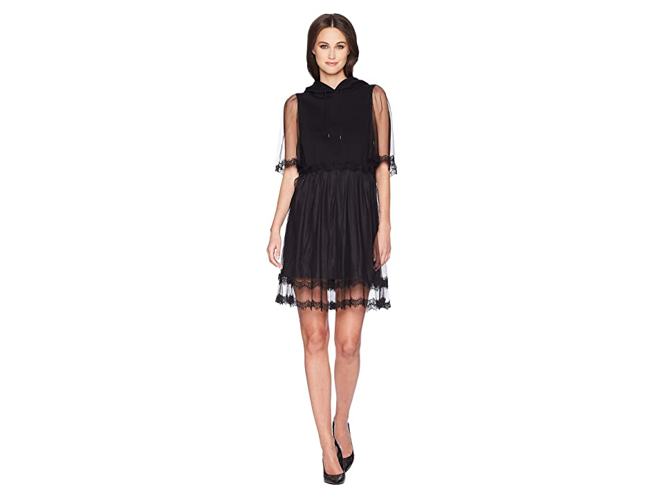 McQ Hybrid Hoodie Dress (Darkest Black) Women