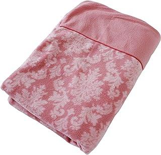 あったか フリース 掛け布団カバー ダマスクロイヤル シングルサイズ (ピンク)