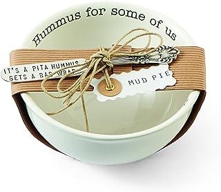 Mud Pie Hummus Dip Set, White