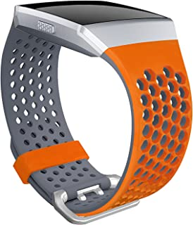 SKYLET Bands Compatible with Fitbit Ionic, Soft Silicone Breathable Replacement Wristband Compatible with Fitbit Ionic Sma...