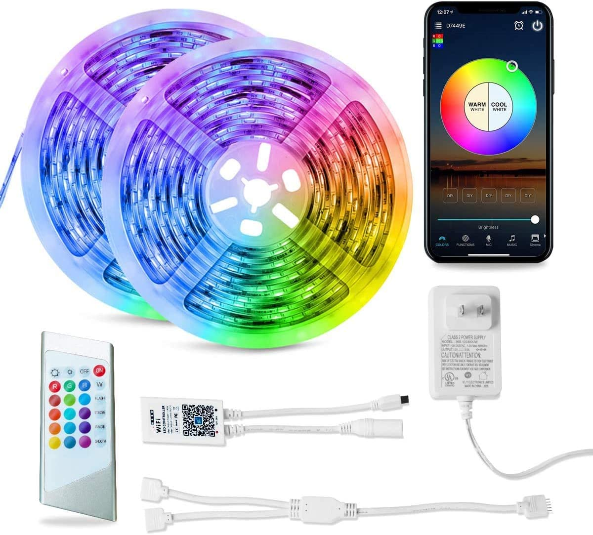 OBSESS RGBW Led Strip Lights 32.8ft Music Sale SALE% OFF with Work Alexa service Sycn G
